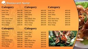 Prudent Thai Menu (Golden)