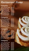 Sleek Bakery Menu (Sepia)