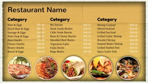 Intrinsic Mexican Menu (Beige)