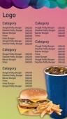 Jubilant Burger Menu (Pink)