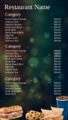 Festal Fastfood Menu (Green)