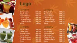 Kosher Juice Menu (Orange)