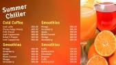 Dapper Juice Menu (Orange)