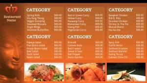 Suave Thai Menu (Orange)