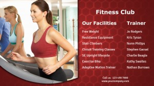 Orbicular Gym Sign (Red)