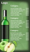 Savvy Bar Menu (Green)