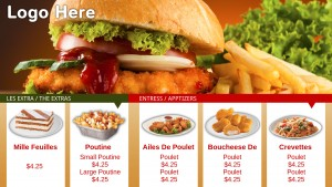 Nimble Fastfood Menu (Red)