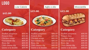 Diligent Fastfood Menu (Red)