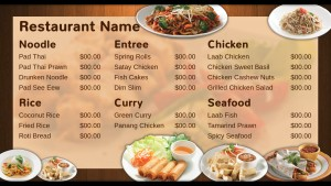 Elite Thai Menu (Brown)