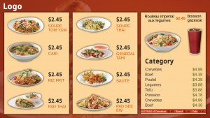 Kosher Thai Menu (Beige)