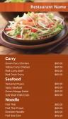Neat Thai Menu (Brown)