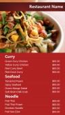 Neat Thai Menu (Red)