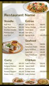 Elite Thai Menu (Green)