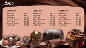 Classic Chocolate Menu (Tan)