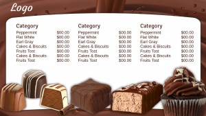 Classic Chocolate Menu (White)