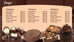 Classic Chocolate Menu (Beige)