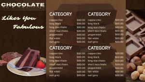 Enigmatic Chocolate Menu