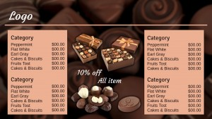 Grand Chocolate Menu (Tan)