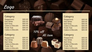 Grand Chocolate Menu (Beige)