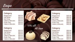 Grand Chocolate Menu (White)