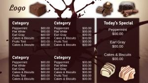 Splendid Chocolate Menu (Dark)