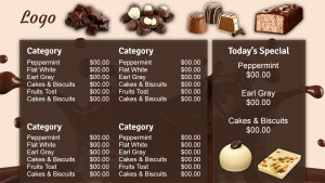 Splendid Chocolate Menu (Tan)