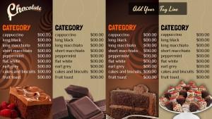 Avid Chocolate Menu