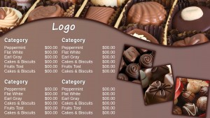 Prolific Chocolate Menu (Dark)