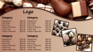 Prolific Chocolate Menu (Tan)