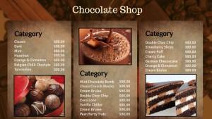 Dashing Chocolate Menu
