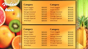Divine Juice Bar Menu