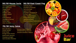 Shadowy Juice Bar Menu