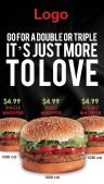 Elite Burger Menu (Black)
