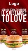 Elite Burger Menu (Red)