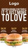 Elite Burger Menu (Pattern)